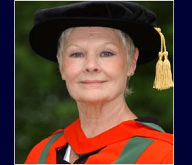 Dame Judi Dench is awarded an honorary degree from the University of Leeds