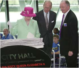 The Queen opens London's new City Hall on the South Bank