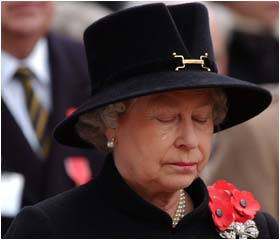 The Queen is visibly moved at the opening of the Field of Remembrance