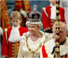 The Queen officially opens Parliament