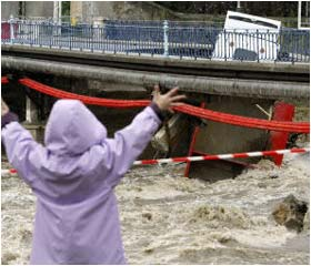 Heavy floods in France