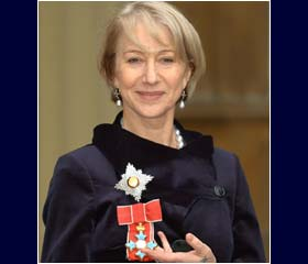 Helen Mirren invested as dame