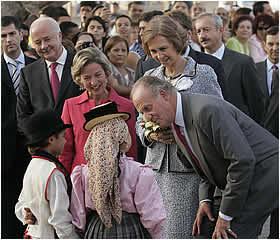 Spanish royals in Canary Islands