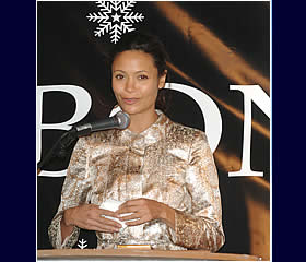 Thandie Newton switches on Xmas lights