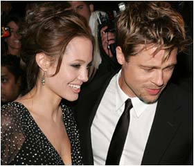 Brad and Angelina at NY premiere