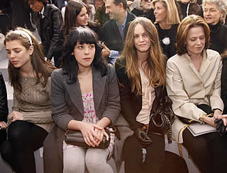 Celebrities on front row at Paris Fashion Week
