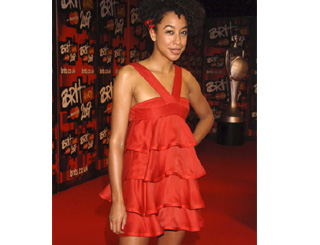 Corinne Bailey Rae arrives at the Brits