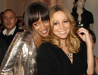 Mariah and Naomi get cosy at Pinko party
