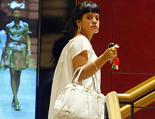 Lily Allen hits the shops