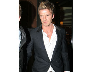 Becks dines out in London