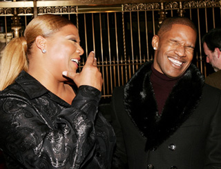 Jamie and Queen Latifah attend premiere