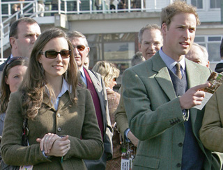 Day at the races for Wills and Kate