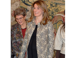 Pregnant Letizia blooming at charity event