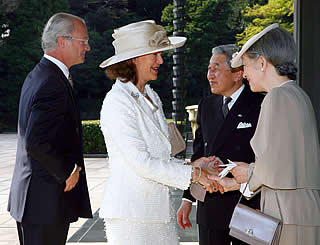 Swedish royals arrive in Japan