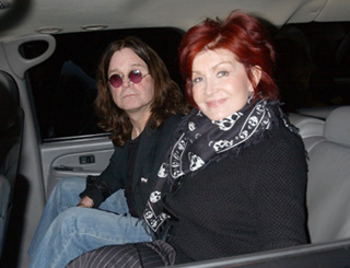 Osbournes out on the town