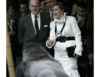 Prince Philip's close encounter of the gorilla kind