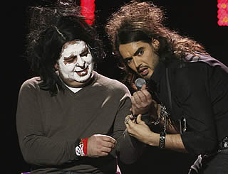 Russell Brand does his bit at charity gig