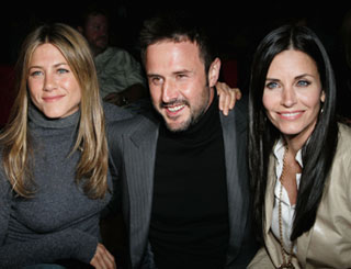 Friends Jen and Courteney team up to support David