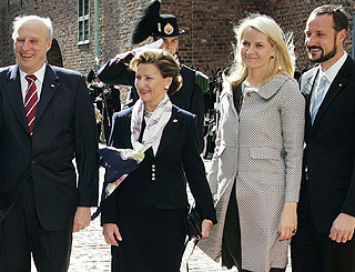 Norwegian royals bid farewell to Austrian visitors