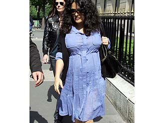 Salma Hayek steps out in sunny Paris