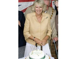 A cake for Camilla on her 60th birthday