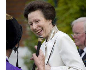 Princess Anne joins racegoers in Windsor