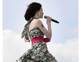 Sophie Ellis-Bextor performs at beach festival
