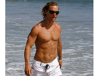 Matthew McConaughey is a shoreline hunk