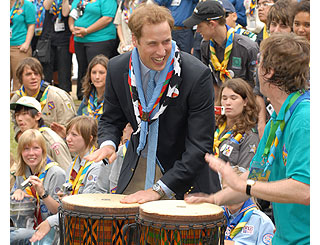 Prince William hosts Scouts' centenary event