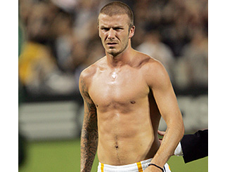 Becks gives his fans an eyeful