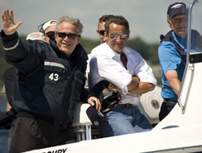 Sarkozy teams up with Bushes on summer break