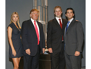 The Trump family outline new venture