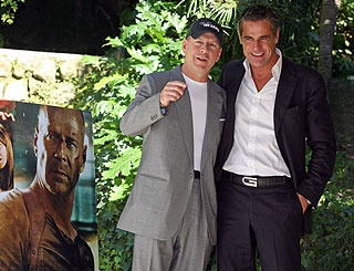 Bruce Willis visits Rome for Die Hard premiere