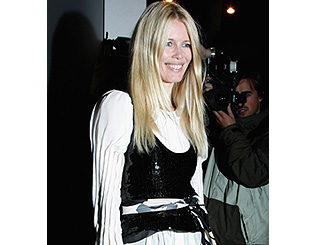 Claudia Schiffer in Vogue at book launch