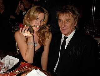 Rod and Penny in the mood at Cartier bash