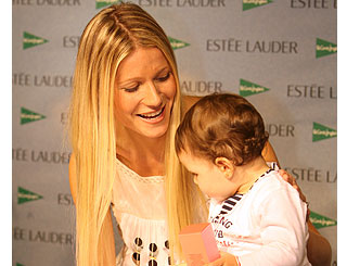 Gwyneth takes time out for her young admirer