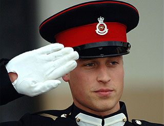 William pays respects to army mentor