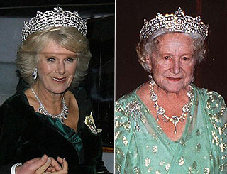 Camilla steps out in Queen Mum's tiara