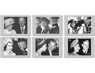 New stamps released to celebrate Queen's anniversary