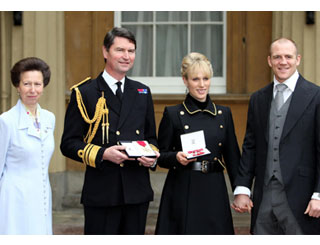 Family affair as Zara awarded MBE