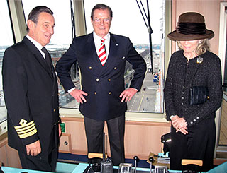 Bond star Roger gets nautical with wife Kiki