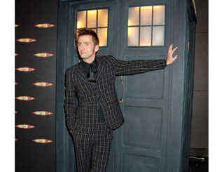 Stars check out Dr Who Christmas special