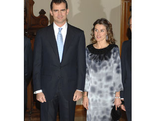 Spanish royals dine out in the capital