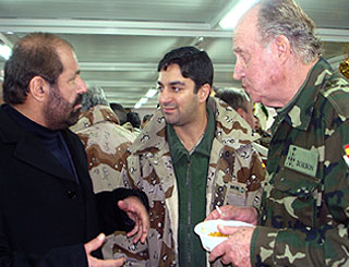 King Juan Carlos visits Spanish troops in Afghanistan