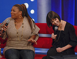 Queen Latifah and Katie share chat-show limelight