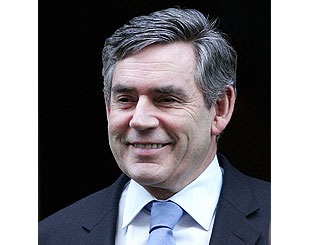 Plane carrying Gordon Brown close to Heathrow crash