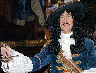 Michael Portillo dresses as King Charles II
