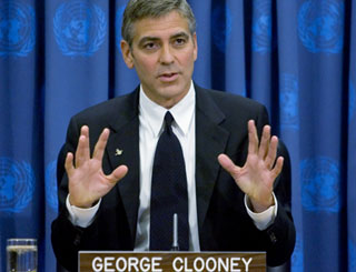 George Clooney becomes messenger of peace