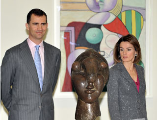 Felipe and Letizia open Picasso exhibition