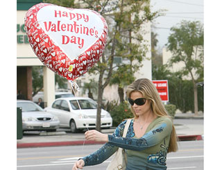 Denise gets into spirit of Valentine's Day